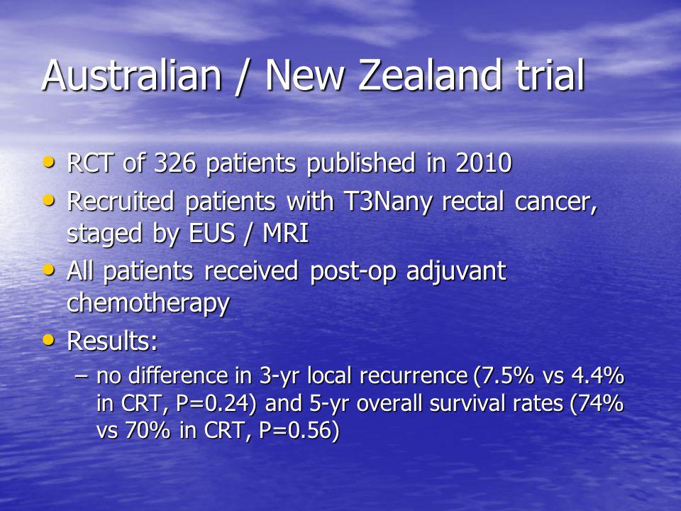 Australian / New Zealand trial