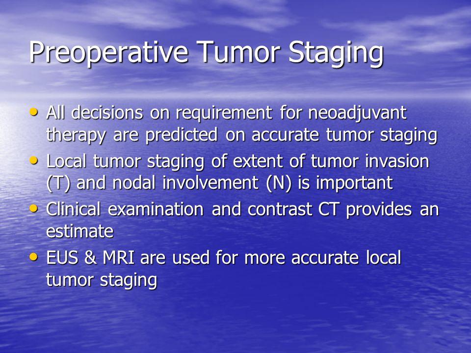 Preoperative Tumor Staging