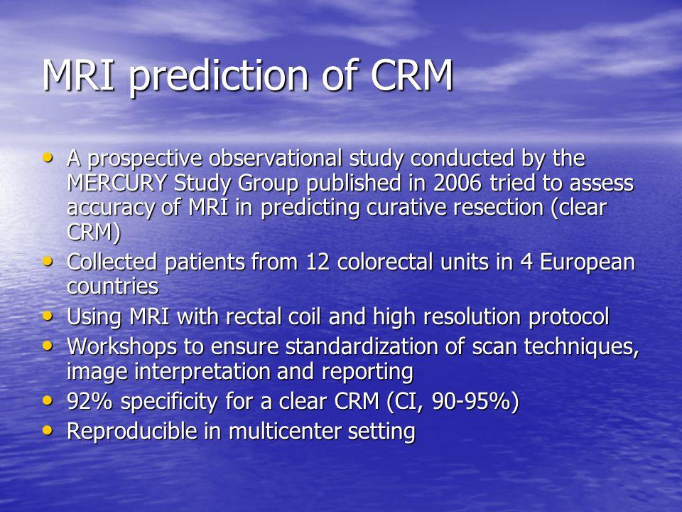 MRI prediction of CRM