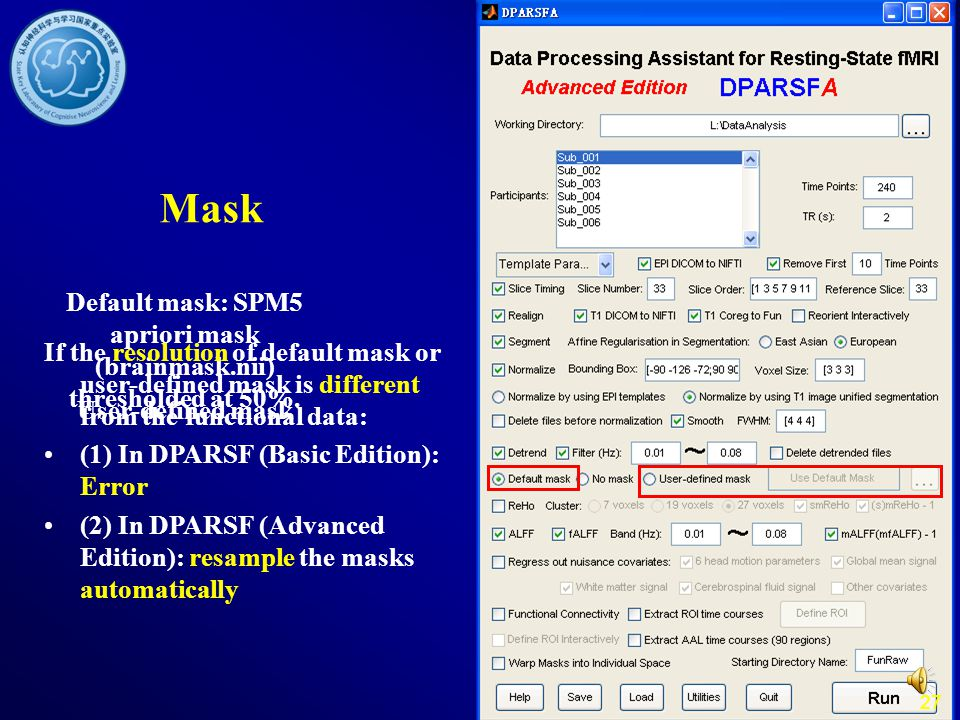 Default mask: SPM5 apriori mask (brainmask.nii) thresholded at 50%.