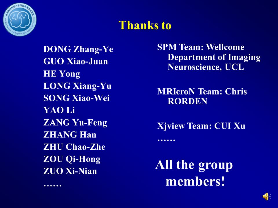 All the group members! Thanks to