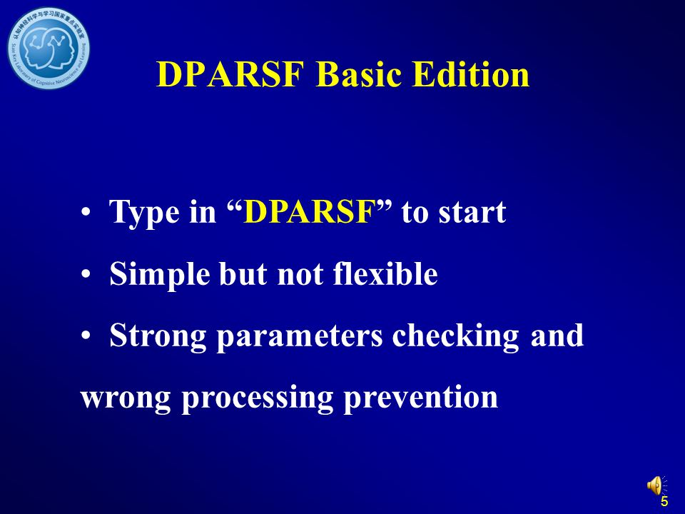 DPARSF Basic Edition Type in DPARSF to start Simple but not flexible