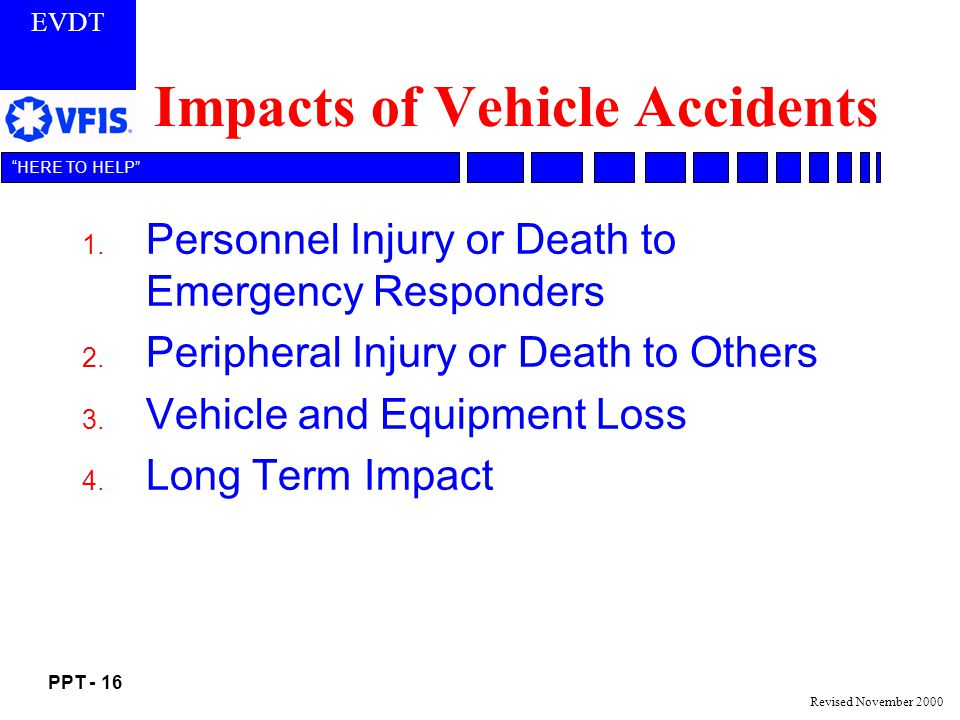 Impacts of Vehicle Accidents