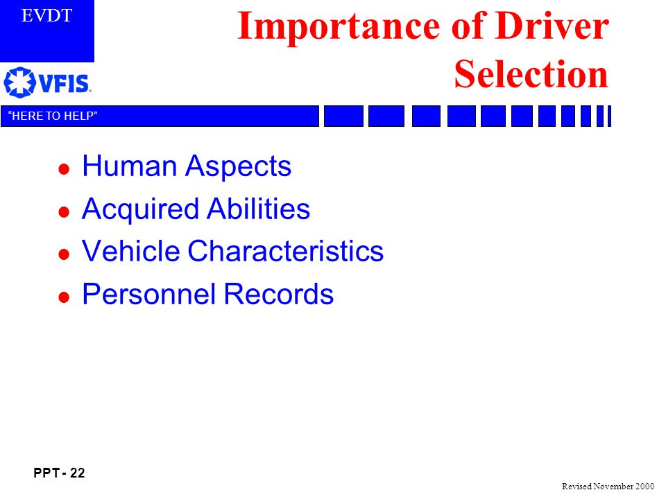 Importance of Driver Selection