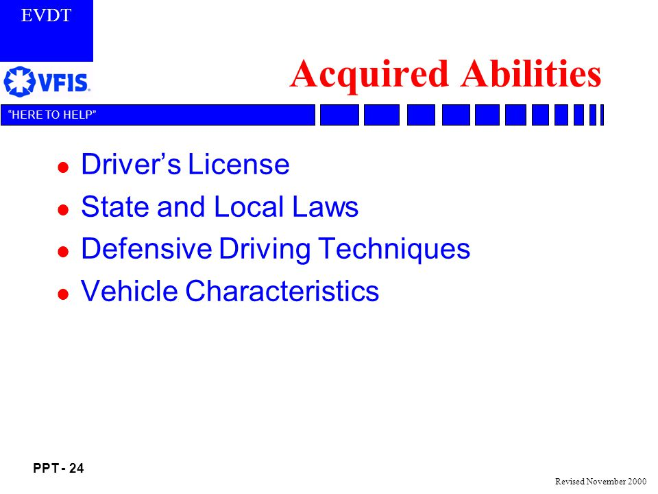 Acquired Abilities Driver's License State and Local Laws