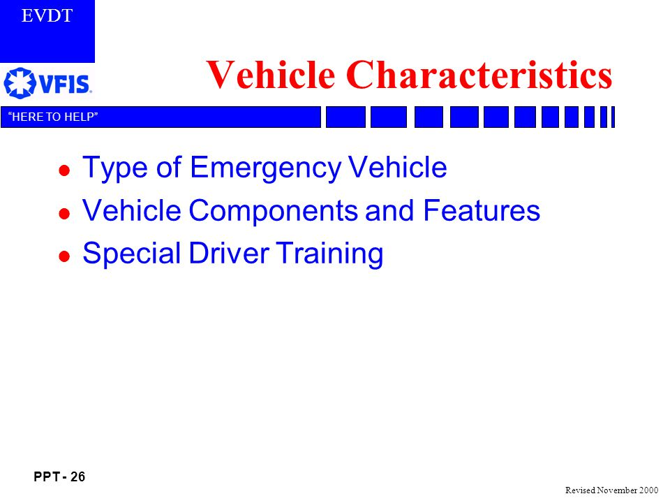 Vehicle Characteristics