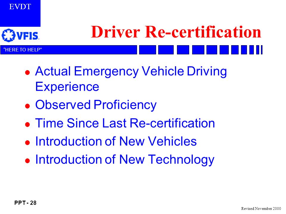 Driver Re-certification