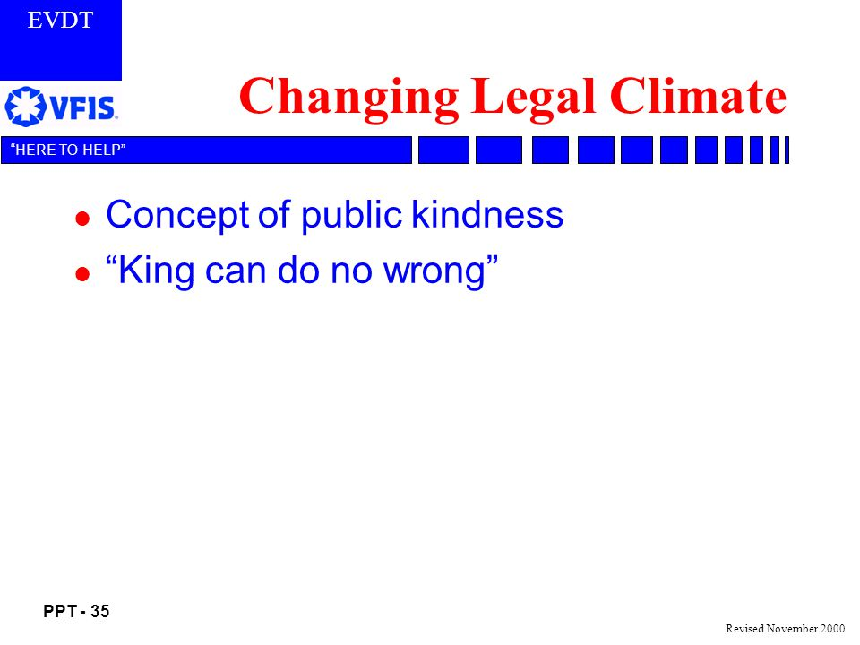 Changing Legal Climate