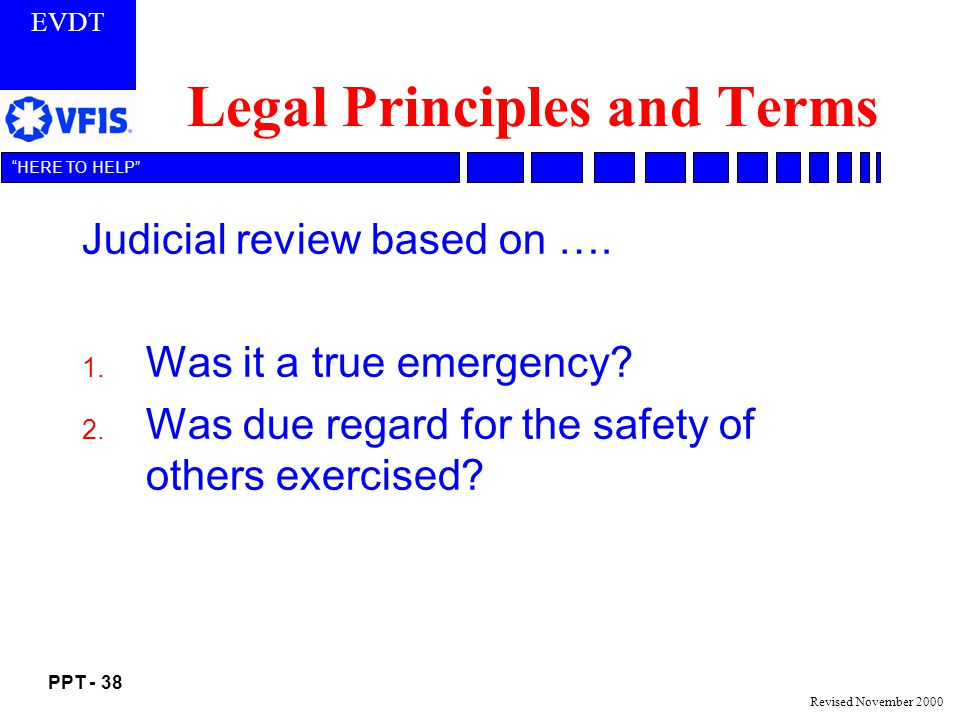 Legal Principles and Terms