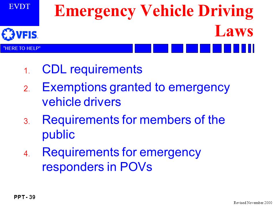 Emergency Vehicle Driving Laws