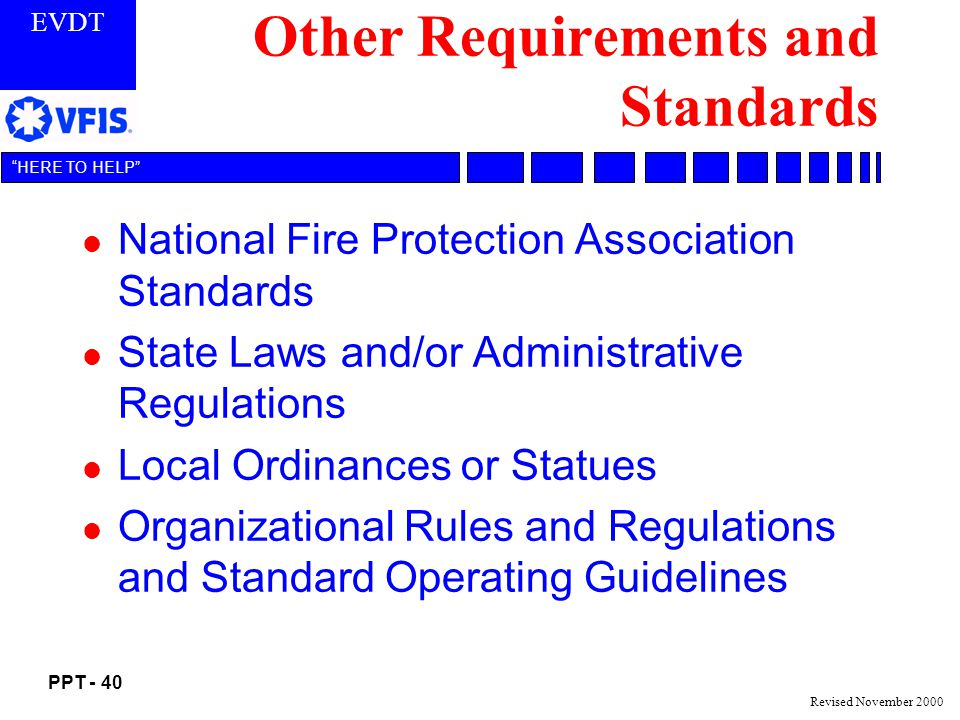 Other Requirements and Standards