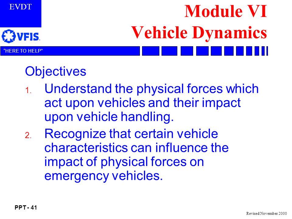 Module VI Vehicle Dynamics