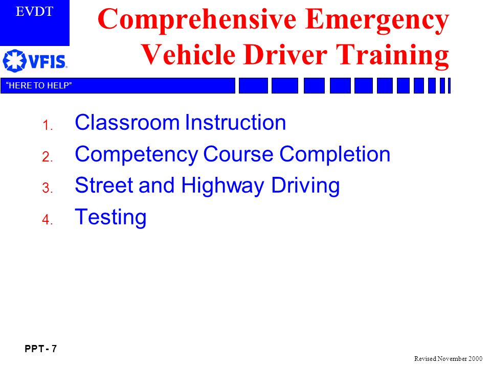 Comprehensive Emergency Vehicle Driver Training