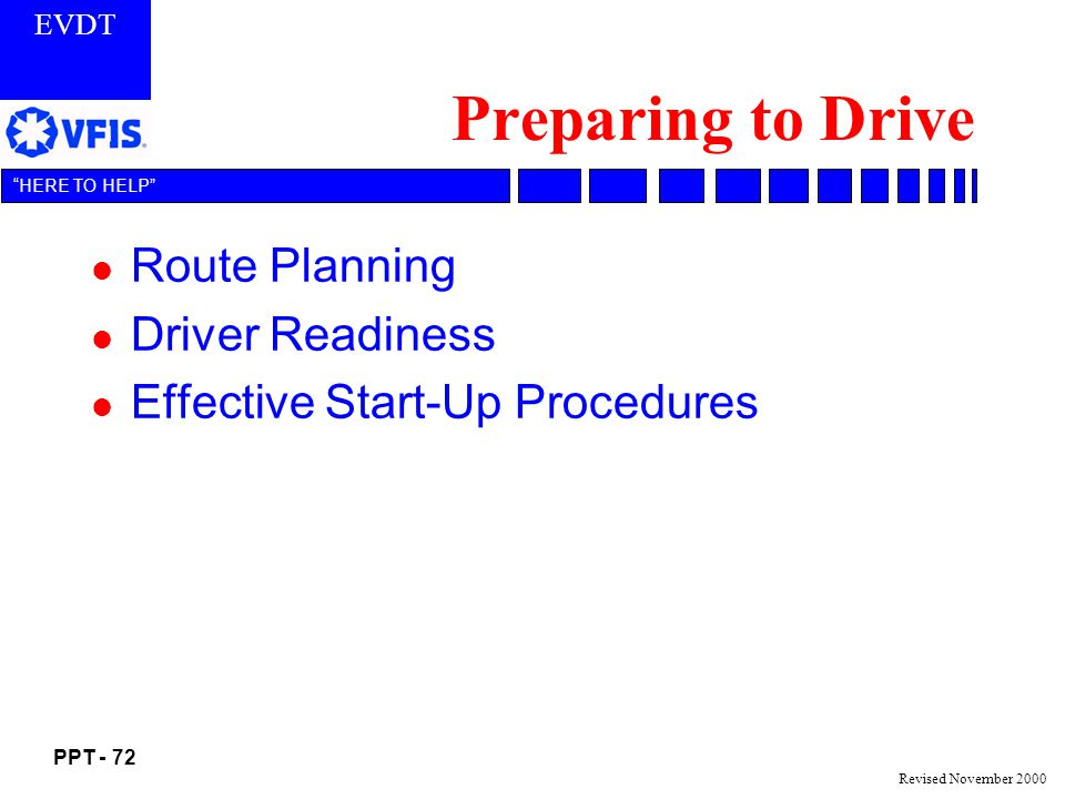 Preparing to Drive Route Planning Driver Readiness