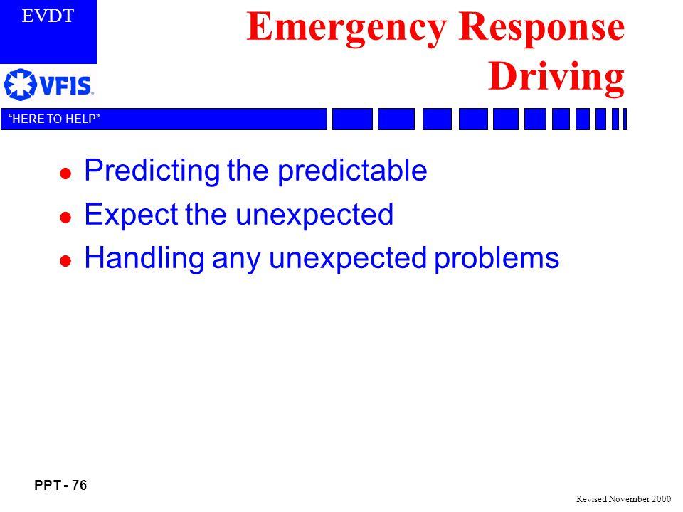 Emergency Response Driving