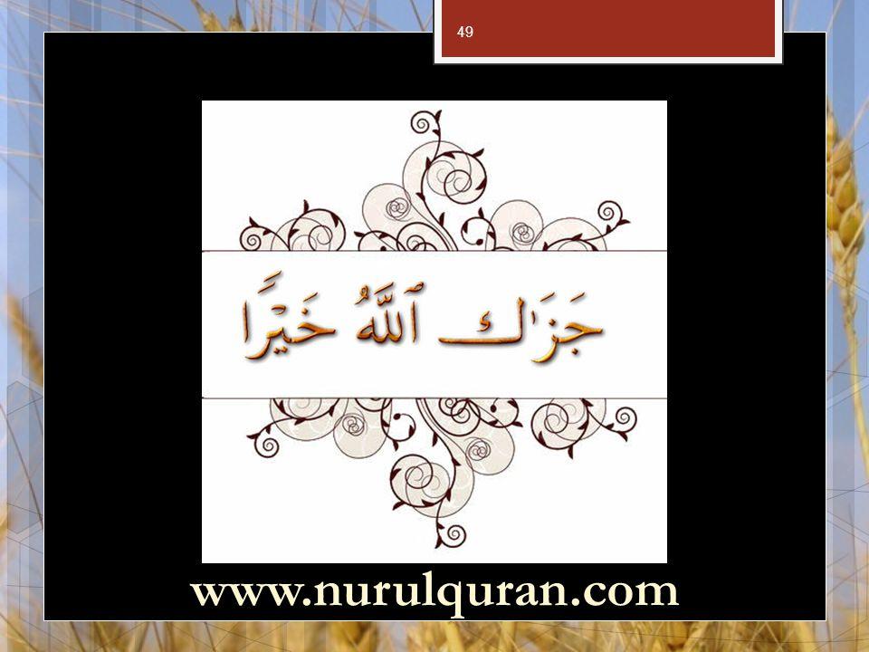 49 www.nurulquran.com