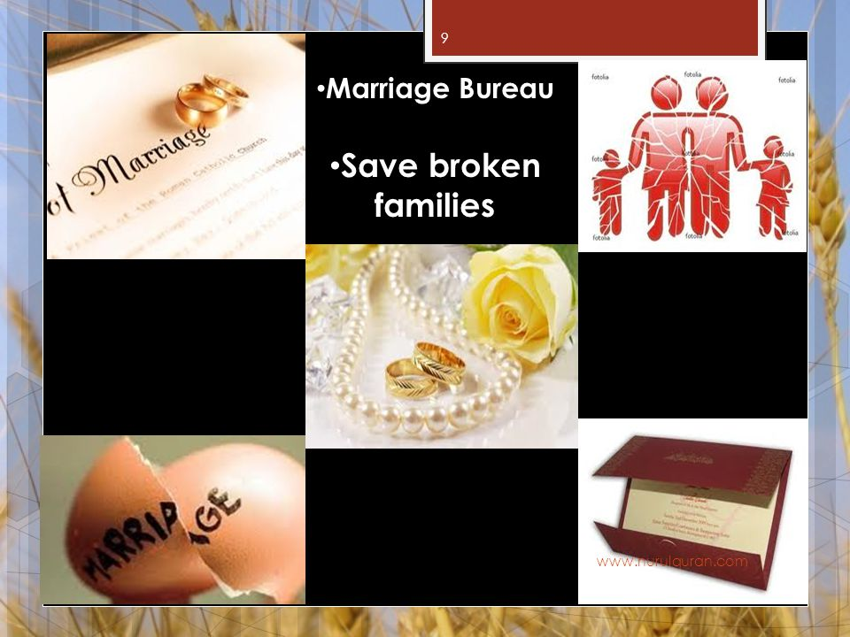 9 Marriage Bureau Save broken families www.nurulquran.com