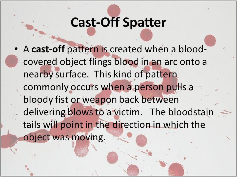 Cast-Off Spatter
