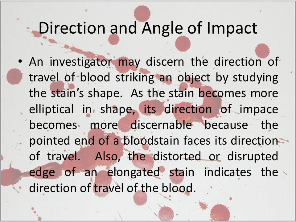 Direction and Angle of Impact
