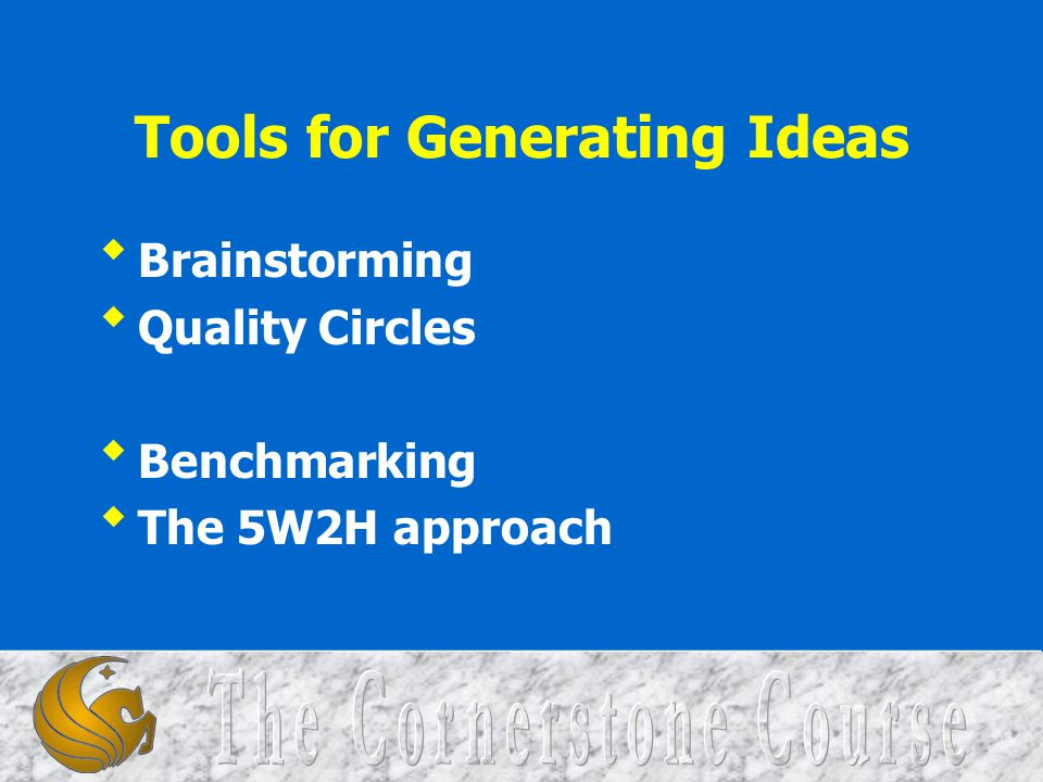 Tools for Generating Ideas
