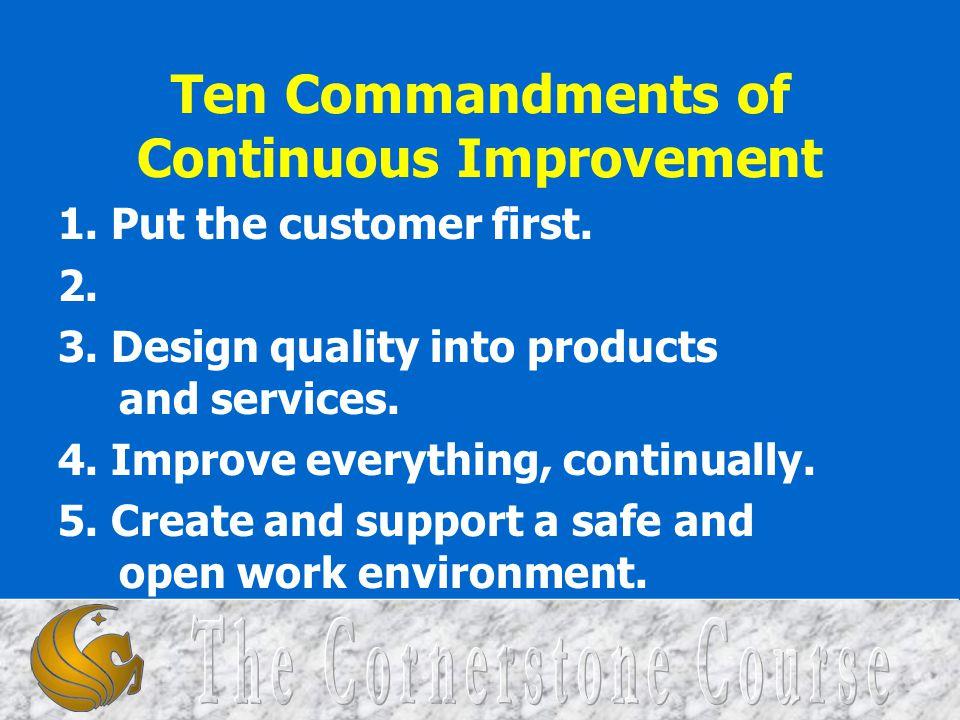 Ten Commandments of Continuous Improvement