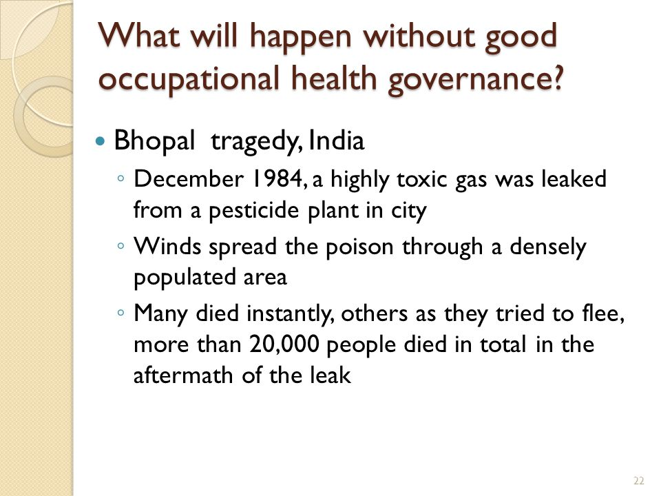 What will happen without good occupational health governance
