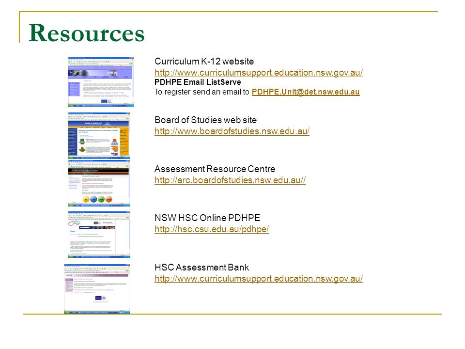Resources Curriculum K-12 website