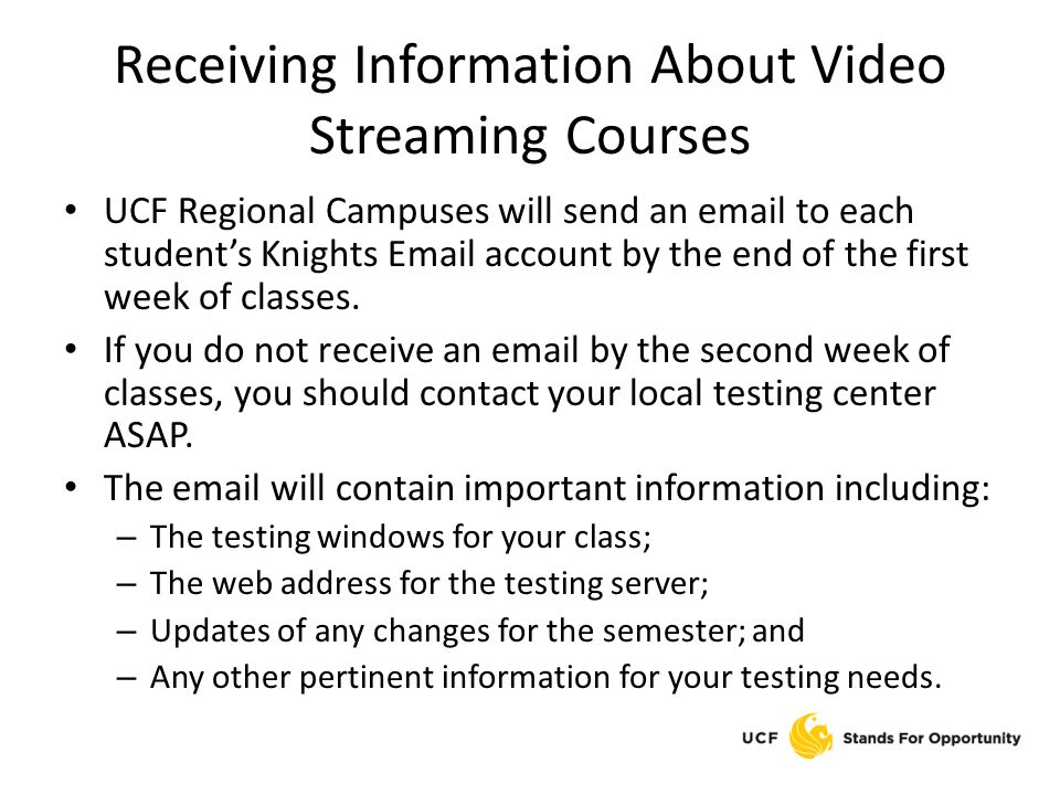 Receiving Information About Video Streaming Courses