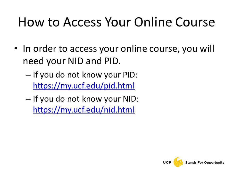 How to Access Your Online Course