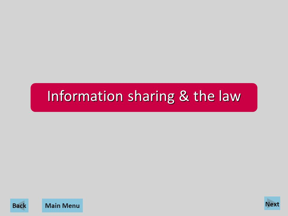 Information sharing & the law