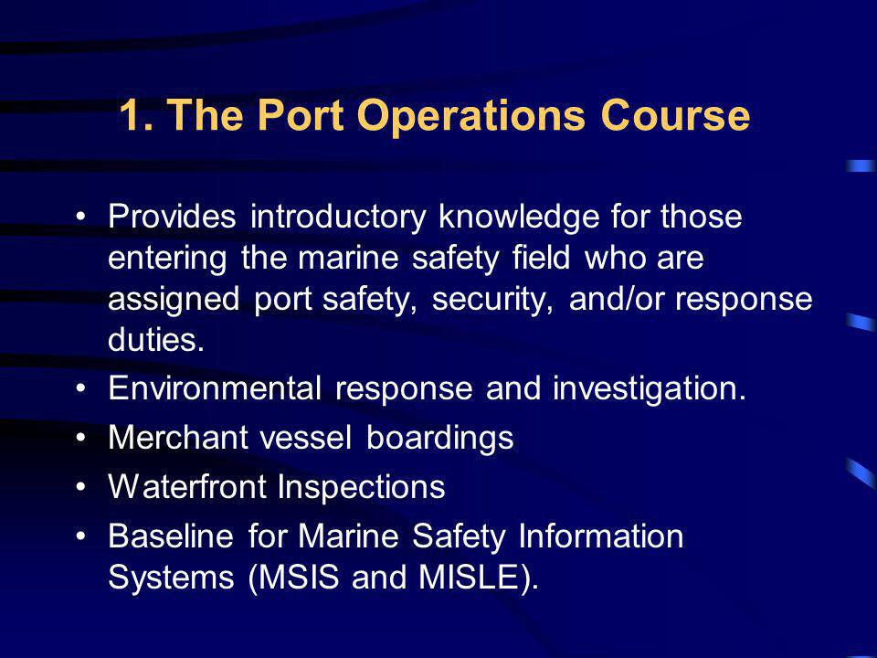 1. The Port Operations Course
