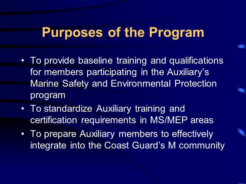 Purposes of the Program