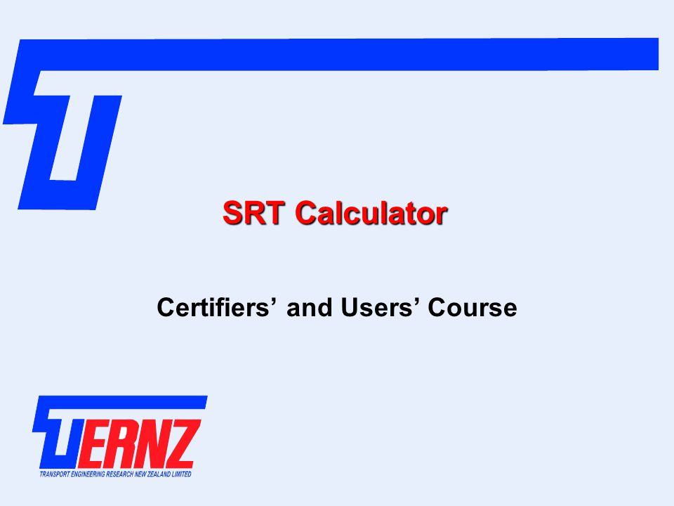 Certifiers' and Users' Course