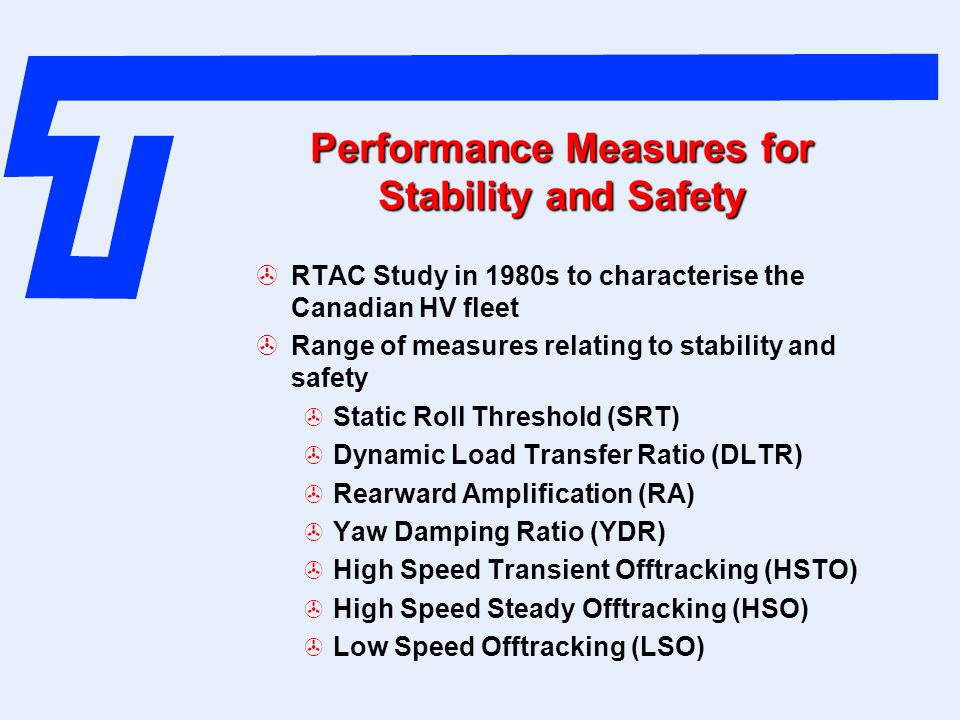 Performance Measures for Stability and Safety