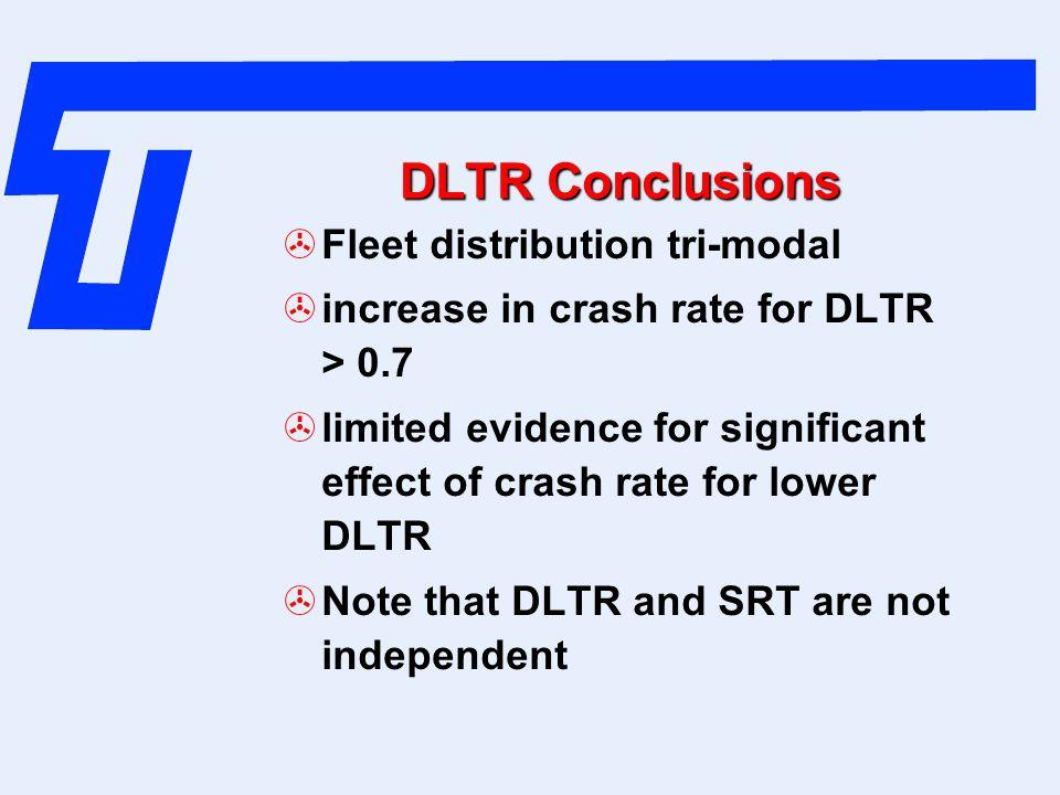 DLTR Conclusions Fleet distribution tri-modal