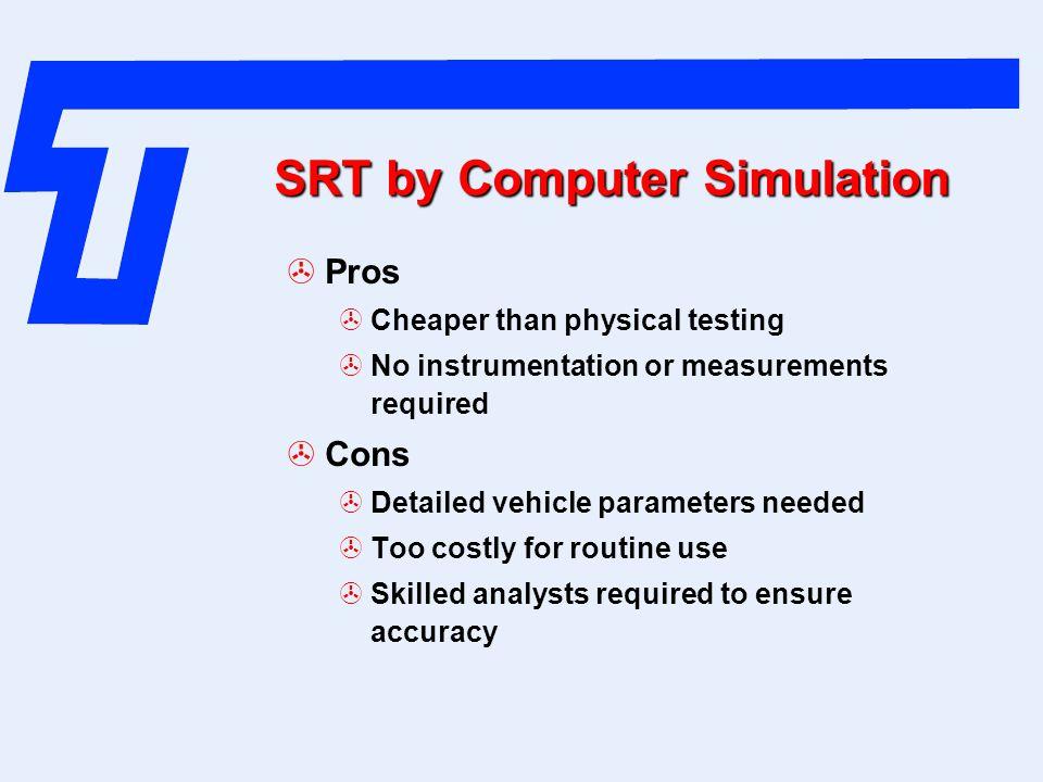 SRT by Computer Simulation