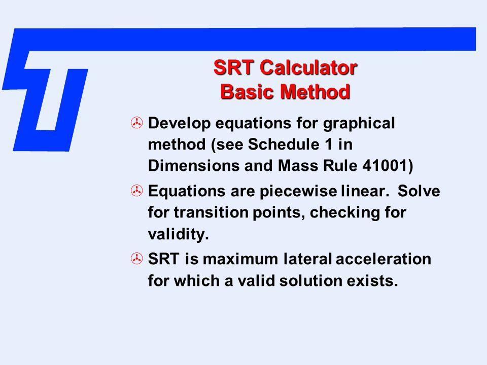 SRT Calculator Basic Method