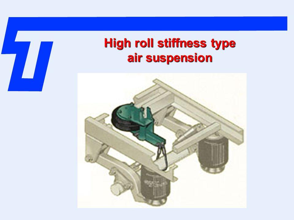 High roll stiffness type air suspension