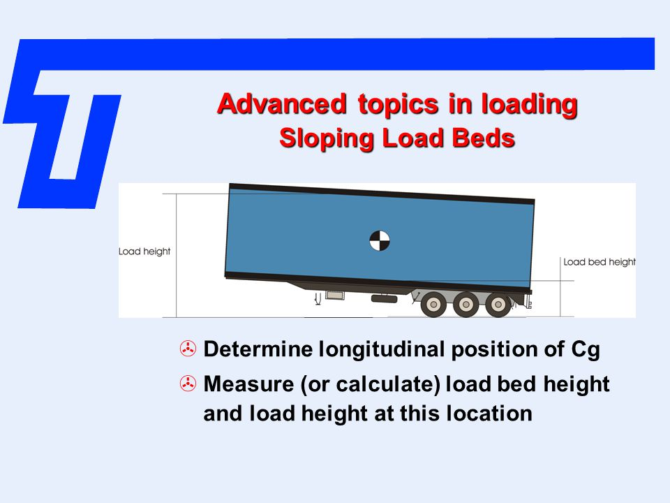Advanced topics in loading Sloping Load Beds