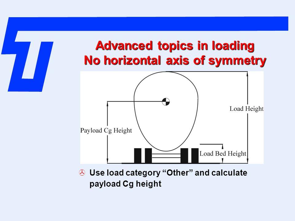 Advanced topics in loading No horizontal axis of symmetry