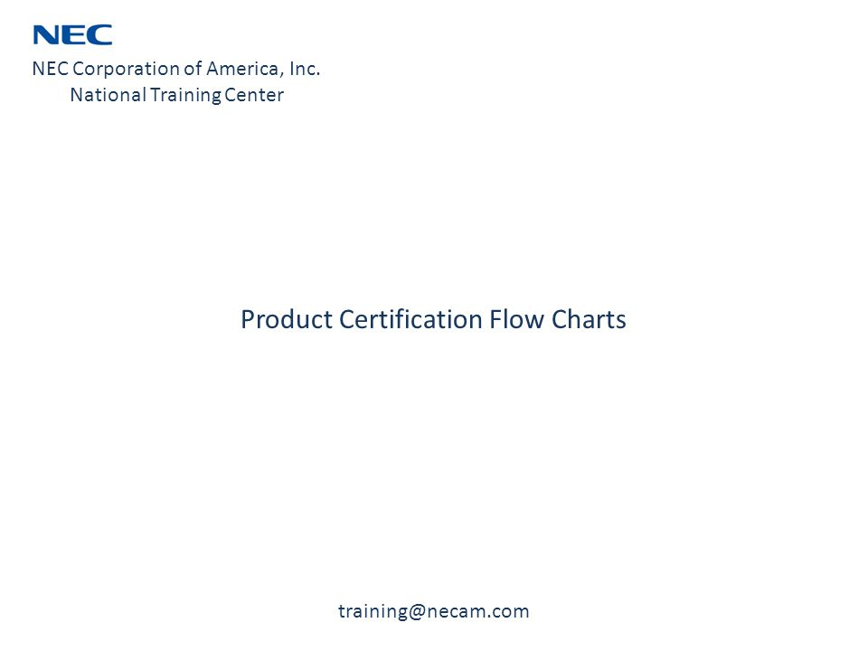 Product Certification Flow Charts