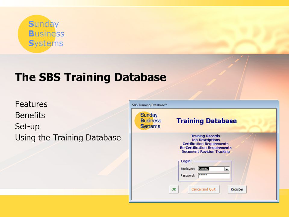 The SBS Training Database