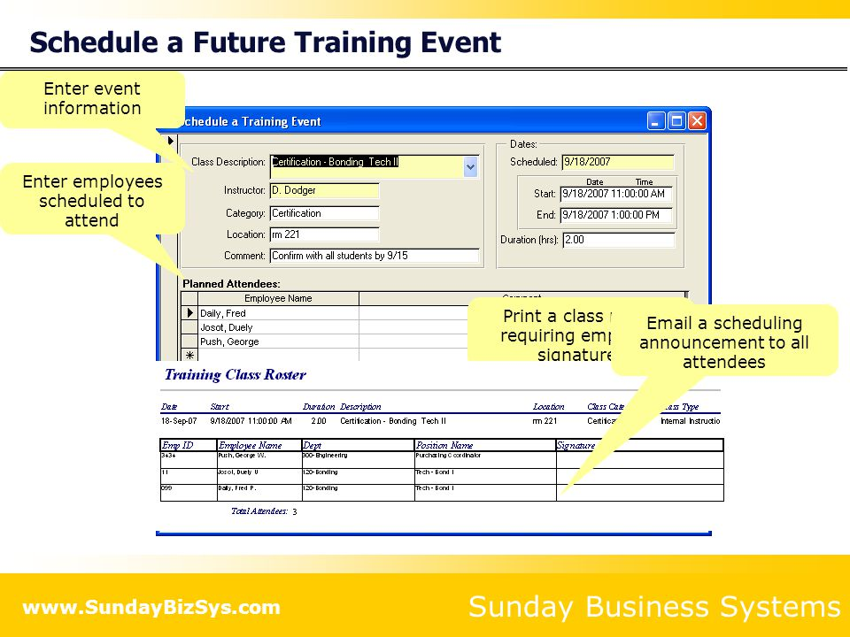 Schedule a Future Training Event