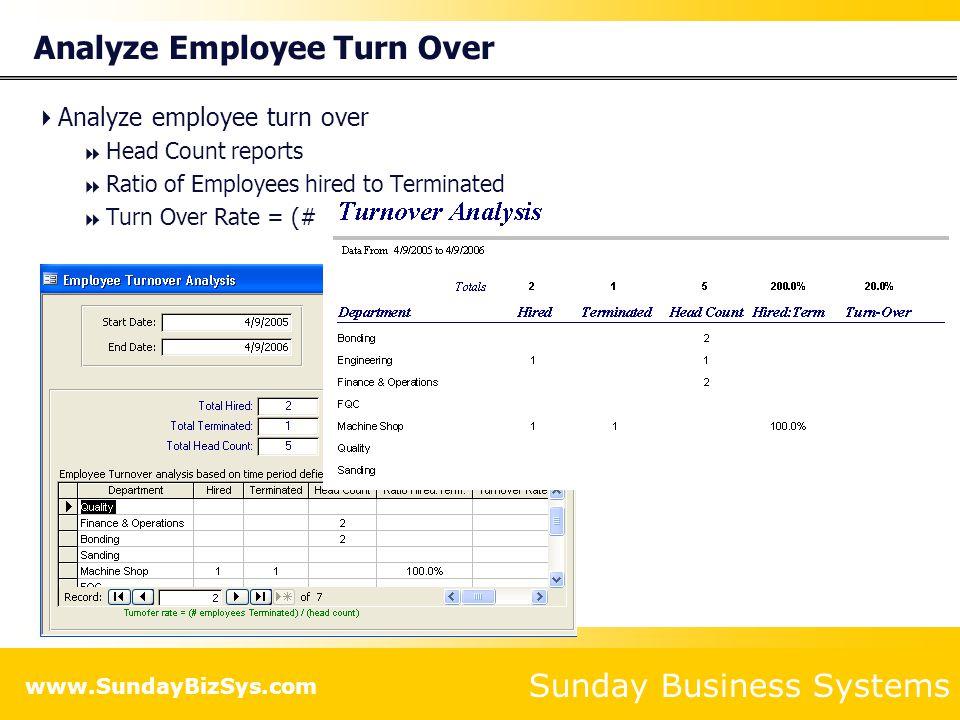 Analyze Employee Turn Over