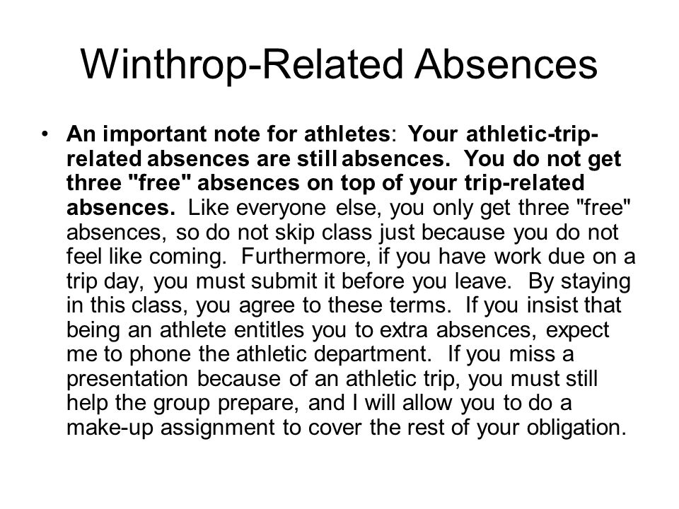 Winthrop-Related Absences