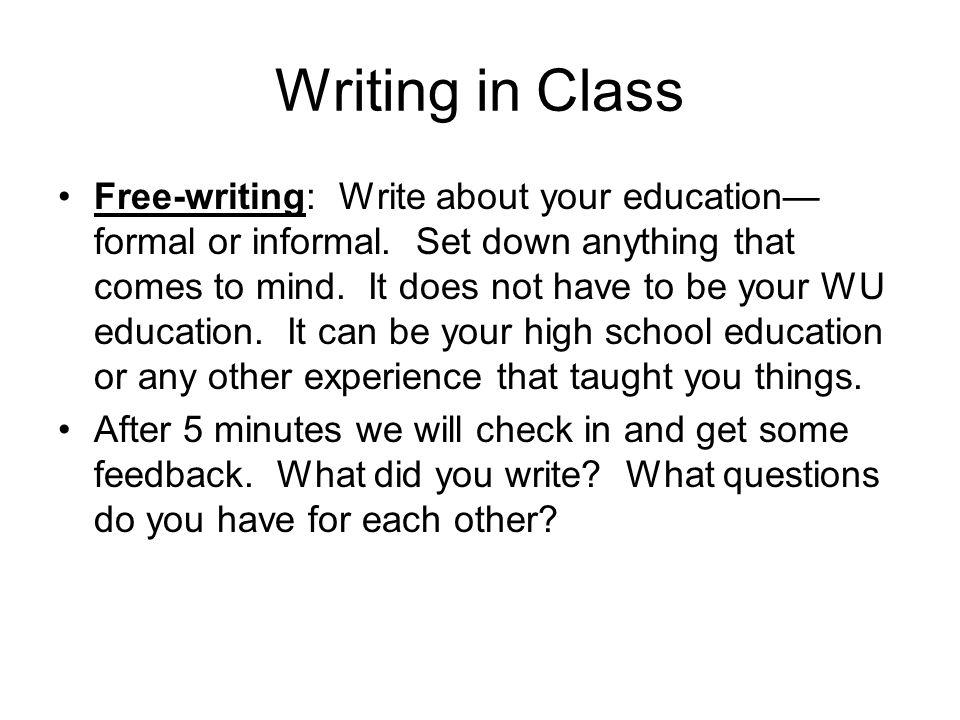 Writing in Class