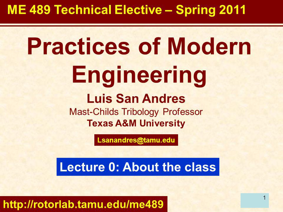 Practices of Modern Engineering