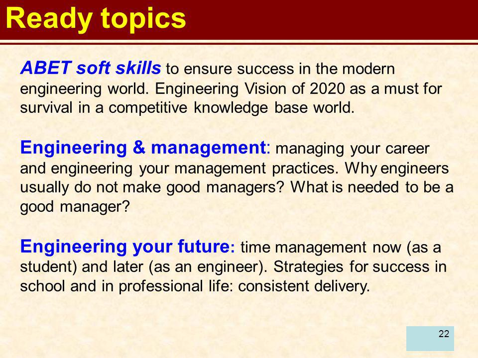 Ready topics