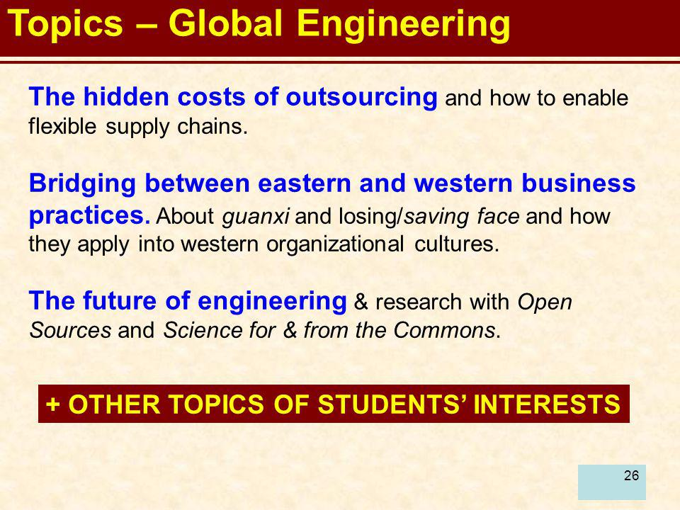 Topics – Global Engineering