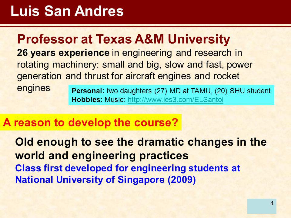 Luis San Andres Professor at Texas A&M University
